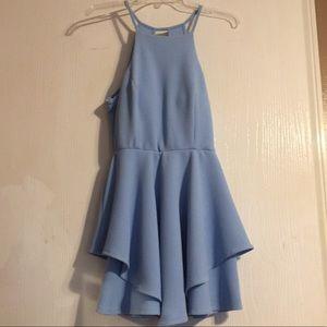Papaya Size L Light Blue Strappy Mini Dress